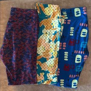 Bundle of 3 LulaRoe leggings